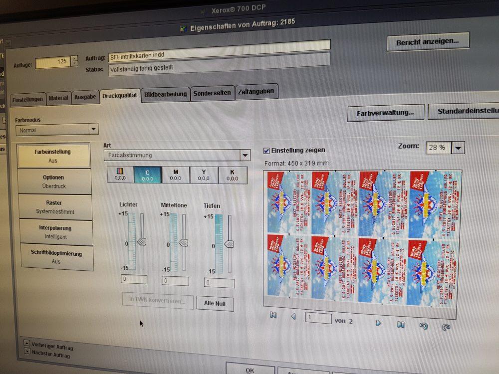 Digitaler Druck auf Xerox Systemen