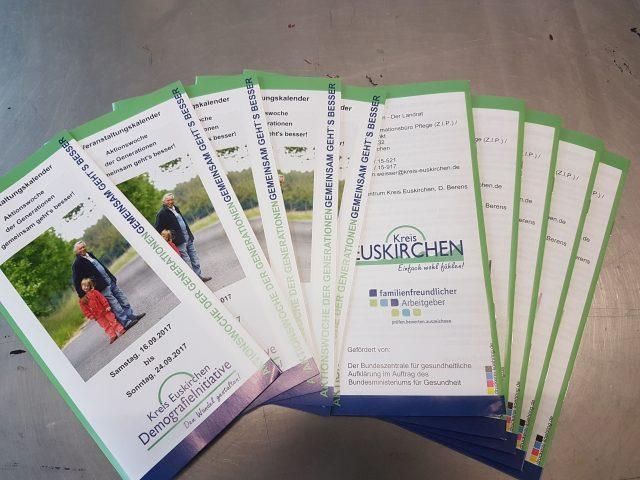 Faltblatt Veranstaltungskalender der Generationen Kreis Euskirchen