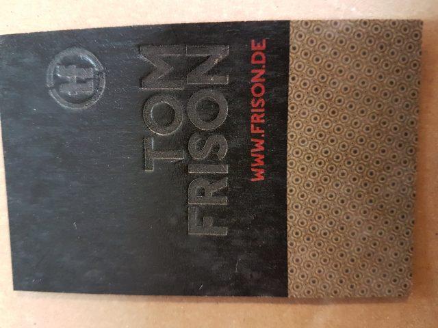 Visitenkarten Auf Kraftkarton Mit Heissprägung Druckerei