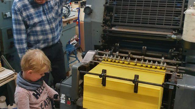 Junior bei der Arbeit